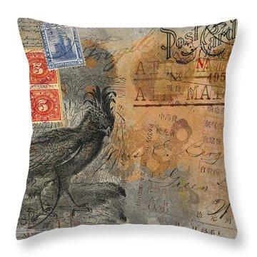 Miss Bergeron Postcard Throw Pillow