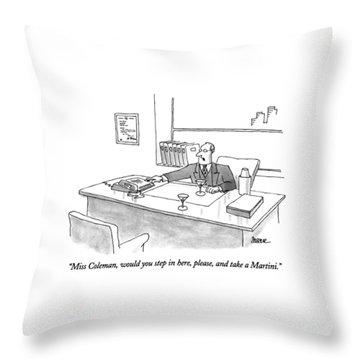 Miss Coleman Throw Pillow