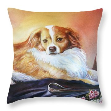 Miss Daisy Throw Pillow by Patricia Schneider Mitchell