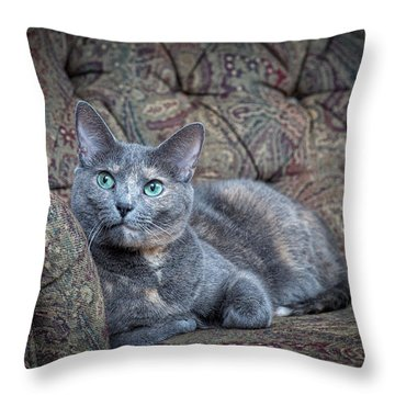 Miss Emily Throw Pillow