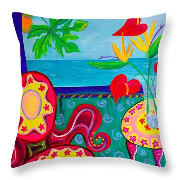 Miss Emma's Parlor Throw Pillow by Beth Cooper