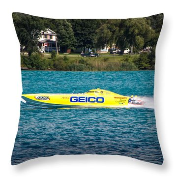 Miss Geico Throw Pillow
