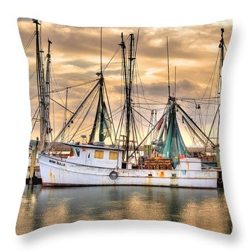 Miss Hale Shrimp Boat Throw Pillow