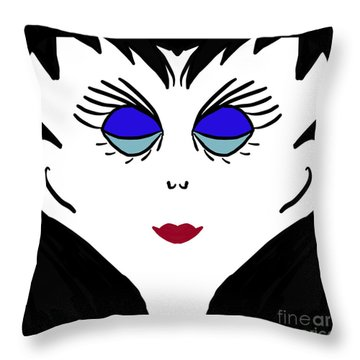 Miss Jones Throw Pillow
