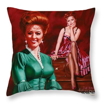 Miss Kitty Throw Pillow by Dick Bobnick
