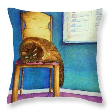 Kitty's Nap Throw Pillow