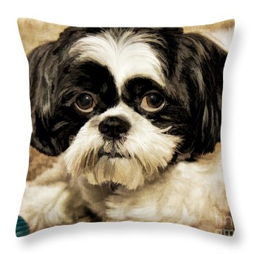 Miss Mini Throw Pillow
