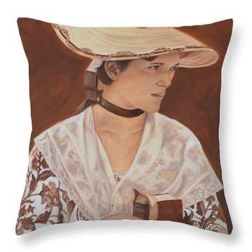 Miss Nichols Throw Pillow