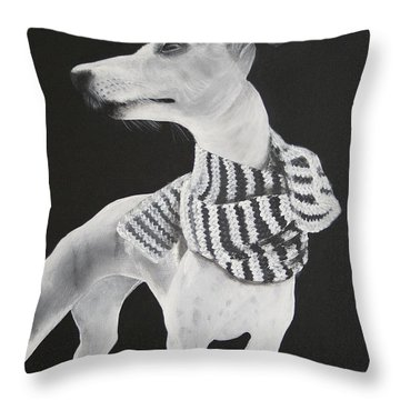 Miss Scarlett Throw Pillow