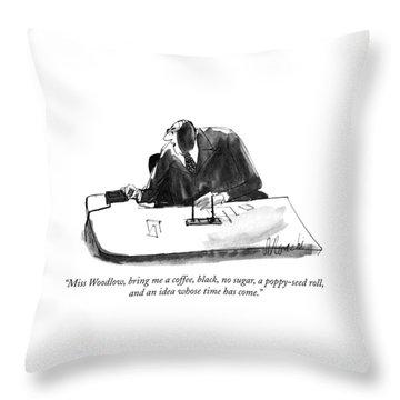 Miss Woodlow Throw Pillow