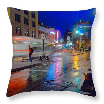 Missed The Bus Throw Pillow