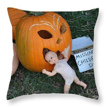 Missing Children Department Throw Pillow