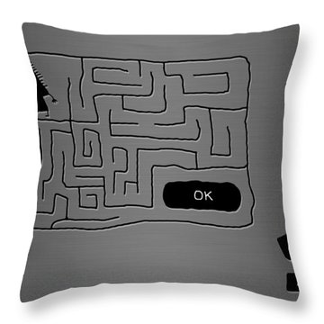 Missing Keys Throw Pillow