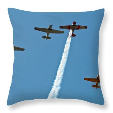 Throw Pillow featuring the photograph Missing Man Flyover by Allen Sheffield