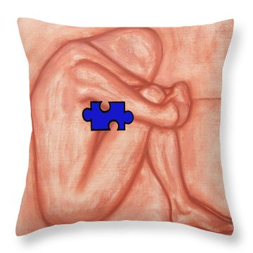 Missing Piece 1 Throw Pillow by Patrick J Murphy
