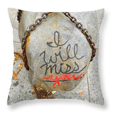 Missing You Throw Pillow by Joan Reese