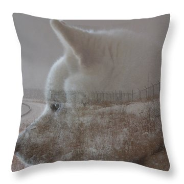Throw Pillow featuring the digital art Missing You  by Stuart Turnbull