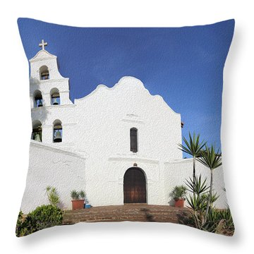 Mission Basilica San Diego De Alcala Throw Pillow