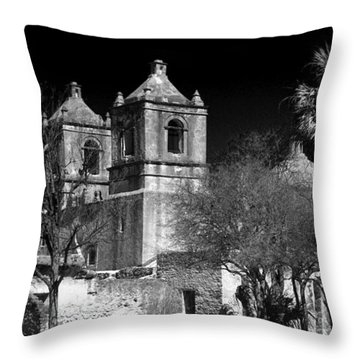 Mission Concepcion Throw Pillow by Brian Kerls