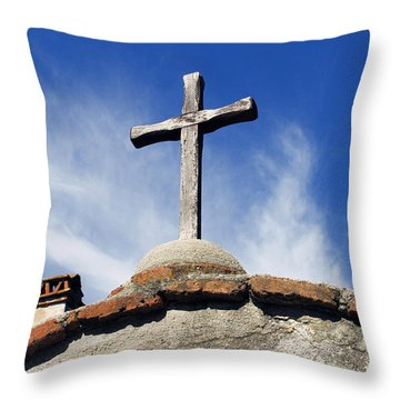 Mission Cross Throw Pillow by Shoal Hollingsworth