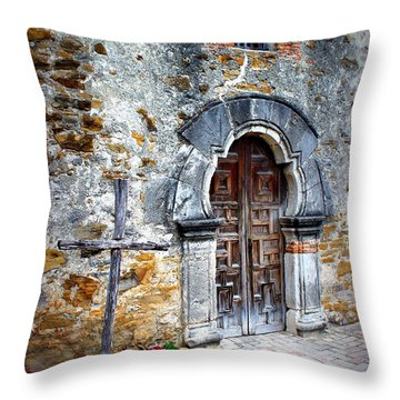 Mission Espada - Doorway Throw Pillow