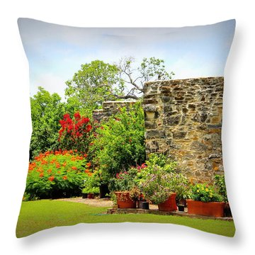 Mission Espada - Garden Throw Pillow
