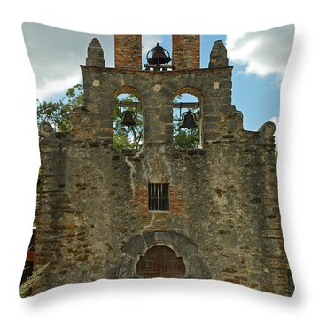 Throw Pillow featuring the photograph Mission Espada by Olivia Hardwicke