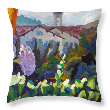 Mission In The Valley Throw Pillow