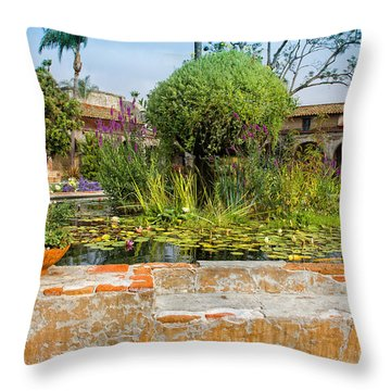 Mission Lilly Pond Throw Pillow