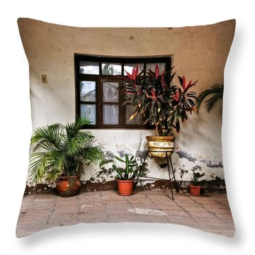 Throw Pillow featuring the photograph Mission Nuestra Senora De Loreto Concho by Kandy Hurley