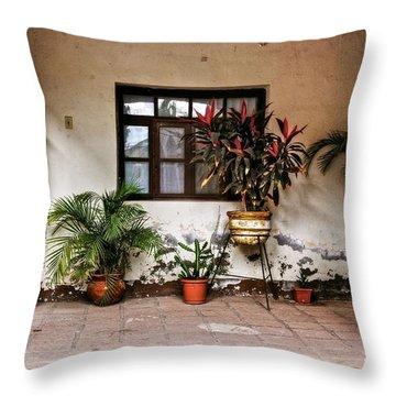 Mission Nuestra Senora De Loreto Concho Throw Pillow by Kandy Hurley