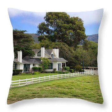 Mission Ranch - Carmel California Throw Pillow