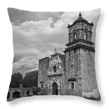 Mission San Jose Bw Throw Pillow