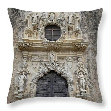 Mission San Jose Doorway Throw Pillow