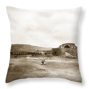 Mission San Juan Capistrano California Circa 1882 By C. E. Watkins Throw Pillow