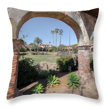 Throw Pillow featuring the photograph Mission San Juan Capistrano by Martin Konopacki
