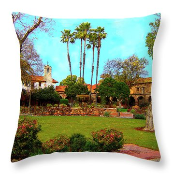 Mission San Juan Capistrano No 11 Throw Pillow