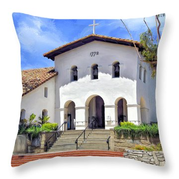 Mission San Luis Obispo De Tolosa Throw Pillow by Dominic Piperata