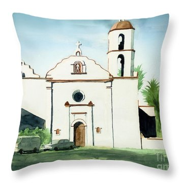 Mission San Luis Rey Colorful II Throw Pillow by Kip DeVore