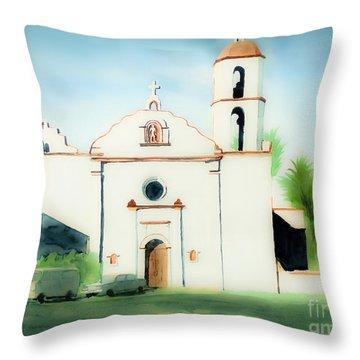 Mission San Luis Rey Dreamy Throw Pillow