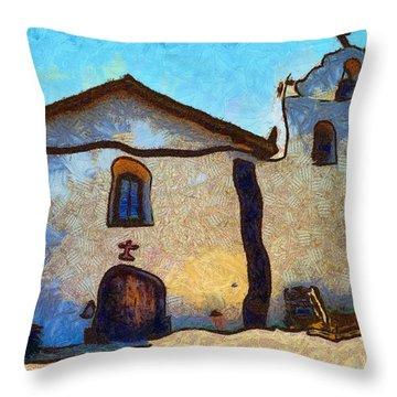 Mission Santa Ines Throw Pillow