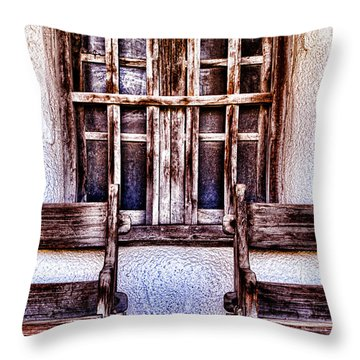 Mission Soledad Window Seating By Diana Sainz Throw Pillow
