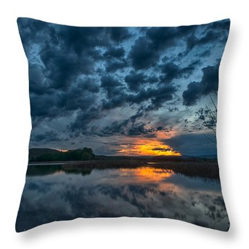 Mission Valley Sunset Throw Pillow