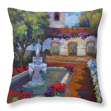 Mission Via Dolorosa Throw Pillow