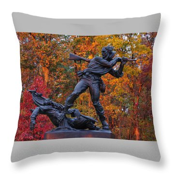 Mississippi At Gettysburg - The Rage Of Battle No. 1 Throw Pillow
