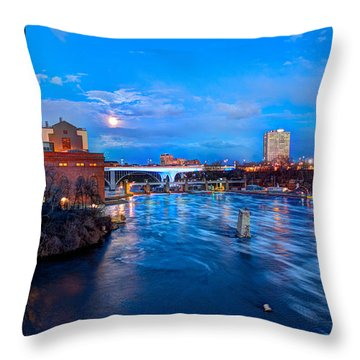 Mississippi Moonlight Throw Pillow by Amanda Stadther