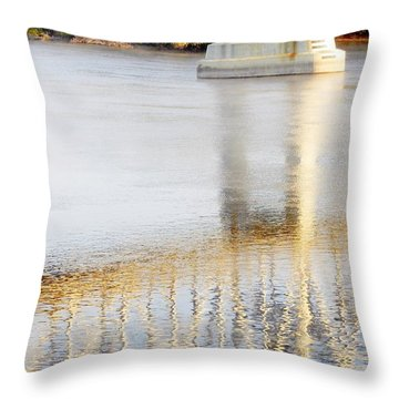 Mississippi Reflection Throw Pillow