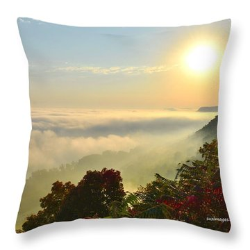 Mississippi River Fog Throw Pillow
