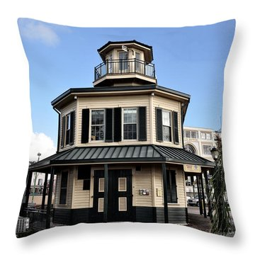 Mississippi River Lighthouse New Orleans Throw Pillow by Bill Cannon