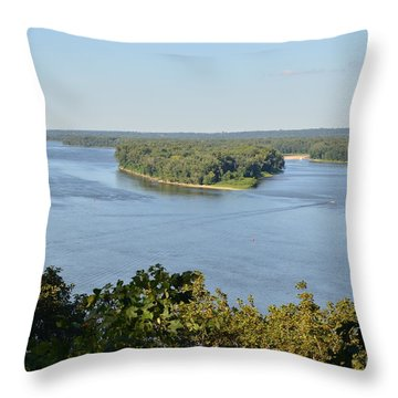 Mississippi River Overlook Throw Pillow by Luther Fine Art